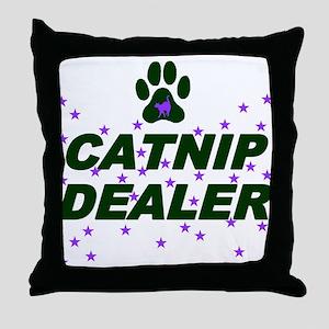 CATNIP DEALER Throw Pillow
