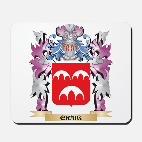 Craig Coat of Arms (Family Crest) Mousepad