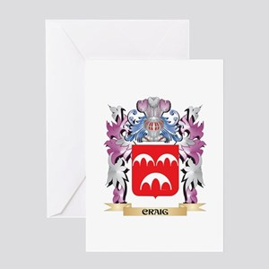 Craig Coat of Arms (Family Crest) Greeting Cards