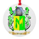 Winge Round Ornament