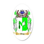 Wing Oval Car Magnet