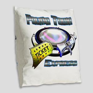 Pound Town Express Burlap Throw Pillow