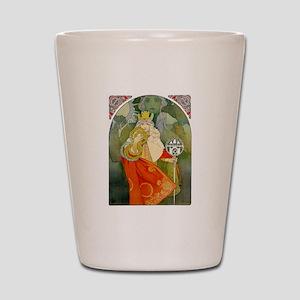 The 6th Sokol Festival 1912 by Mucha Shot Glass