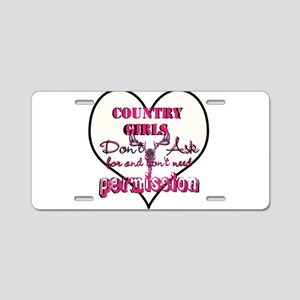 Country Girls Aluminum License Plate