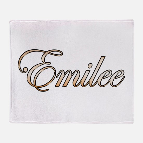 Gold Emilee Throw Blanket