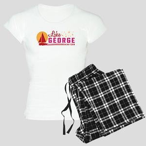 Lake George, New York Women's Light Pajamas