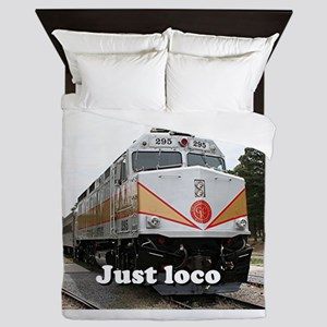 Just loco: railway, locomotive, Grand Queen Duvet