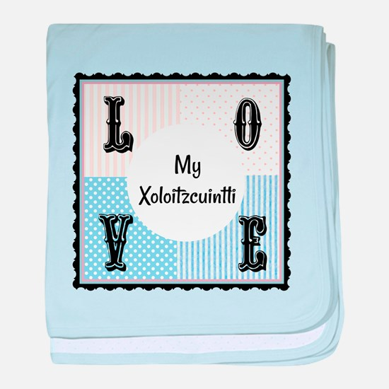 Xoloitzcuintli baby blanket