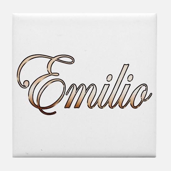 Cute Emilio Tile Coaster
