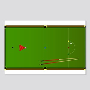 Snooker Table Postcards (Package of 8)