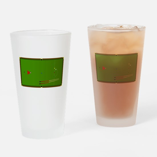 Snooker Table Drinking Glass
