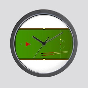 Snooker Table Wall Clock