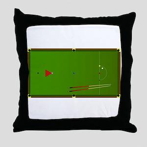 Snooker Table Throw Pillow