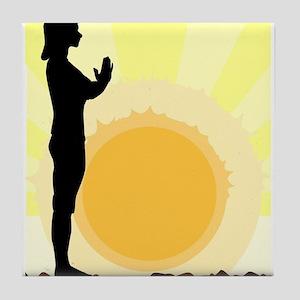 Yoga Salutation Tile Coaster