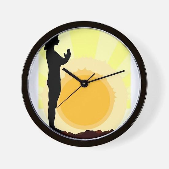 Yoga Salutation Wall Clock