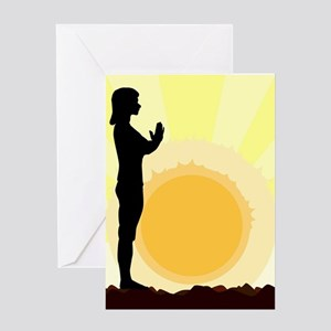 Yoga Salutation Greeting Cards