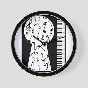 Piano Keyhole Wall Clock