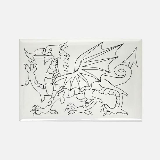 Welsh Dragon Outline Magnets