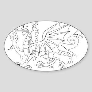 Welsh Dragon Outline Sticker