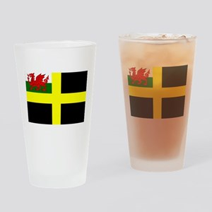 Flag of Saint David Drinking Glass