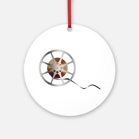 Movie Reel Round Ornament