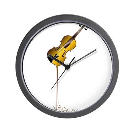 Liquid Violin Wall Clock By Admin Cp133759785
