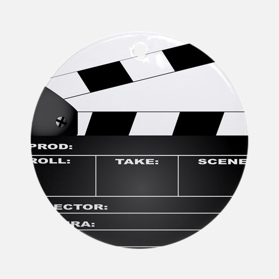 Clapperboard Round Ornament