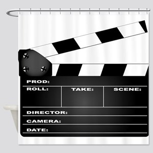 Clapperboard Shower Curtain