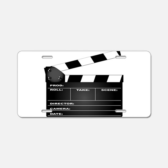 Clapperboard Aluminum License Plate