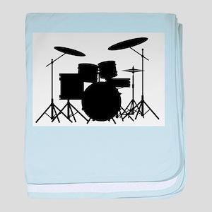 Drum Kit baby blanket