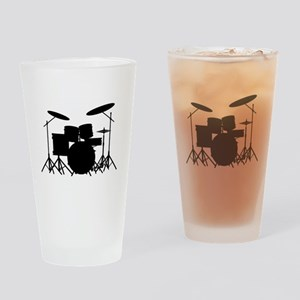 Drum Kit Drinking Glass