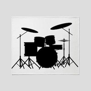 Drum Kit Throw Blanket