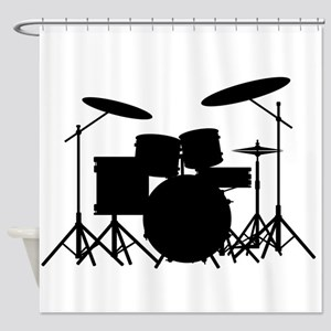 Drum Kit Shower Curtain