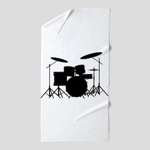 Drum Kit Beach Towel