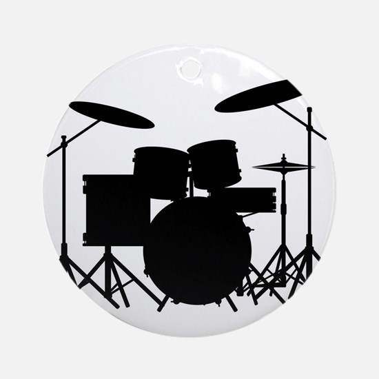 Drum Kit Round Ornament