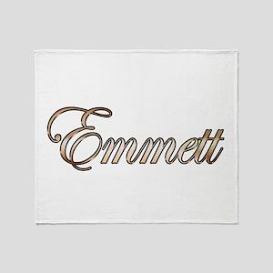 Gold Emmett Throw Blanket