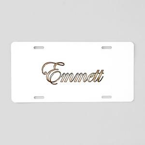 Gold Emmett Aluminum License Plate