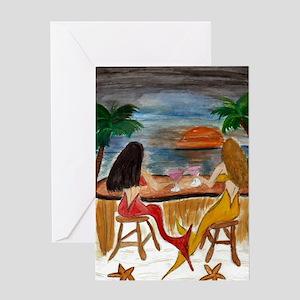 Martini Mermaids Greeting Cards