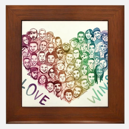 Love Wins Framed Tile