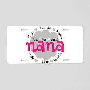 Personalize Nana, MiMi Mamaw Aluminum License Plat