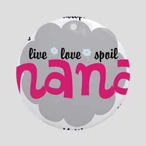 Personalize Nana, MiMi Mamaw Round Ornament