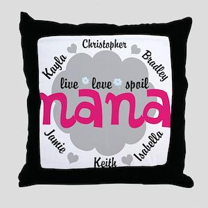 Personalize Nana, MiMi Mamaw Throw Pillow