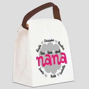 Personalize Nana, MiMi Mamaw Canvas Lunch Bag