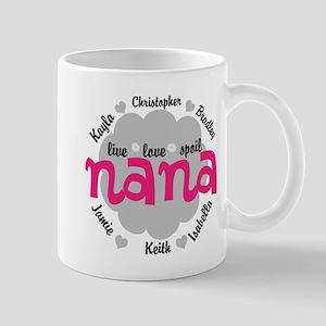 Personalize Nana, MiMi Mamaw Mugs
