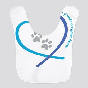 pets leave paw prints on your h Polyester Baby Bib