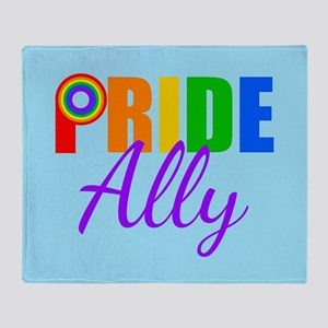 Gay Pride Ally Throw Blanket