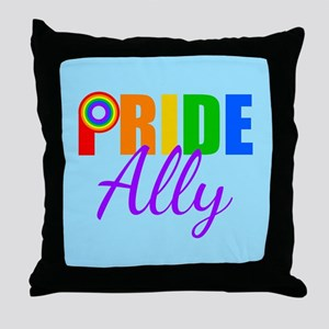 Gay Pride Ally Throw Pillow