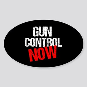 Gun Control Now Sticker (Oval)