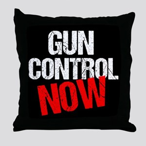 Gun Control Now Throw Pillow