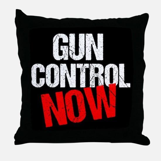 Gun Control Now Throw Pillow